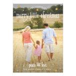 Fröhliche kleine Weihnachtssilber-und -goldFoto-Ka Individuelle Einladungen