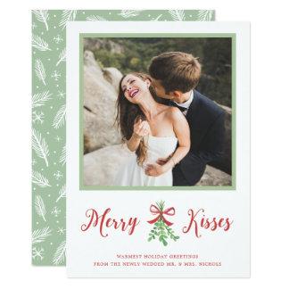 Fröhliche Kuss-Feiertags-Foto-Karte 12,7 X 17,8 Cm Einladungskarte