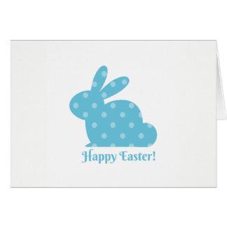 """""""Fröhliche Ostern!"""" Blaues Häschen Grußkarte"""