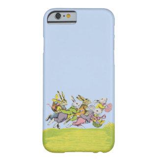 Fröhliche Ostern, die Pastellkaninchen laufen Barely There iPhone 6 Hülle