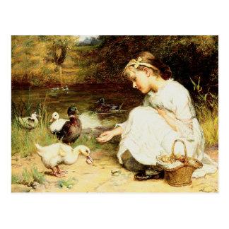 Fröhliche Ostern. Kundengerechte Kunst-Postkarten Postkarte