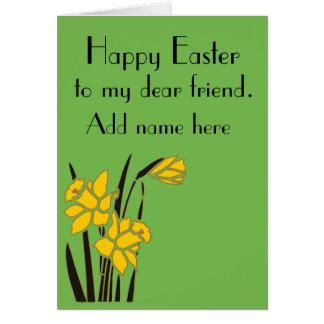 Fröhliche Ostern, lieber Freund Karte