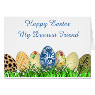 Fröhliche Ostern. Liebster Freund Karte