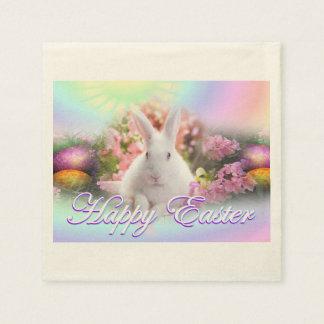 Fröhliche Ostern mit Häschen Servietten