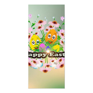 Fröhliche Ostern mit lustigen Ostereiern 10,2 X 23,5 Cm Einladungskarte