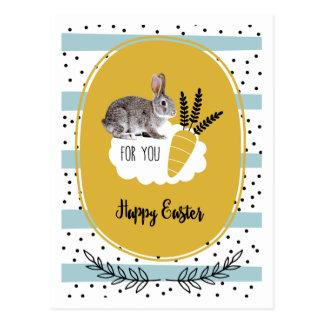 Fröhliche Ostern. Osterhasen-Postkarten Postkarte