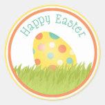 Fröhliche Ostern Runde Sticker