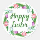 Fröhliche Ostern Runder Aufkleber
