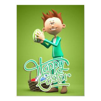 Fröhliche Ostern Toon 16,5 X 22,2 Cm Einladungskarte
