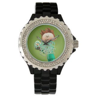 Fröhliche Ostern Toon Armbanduhr