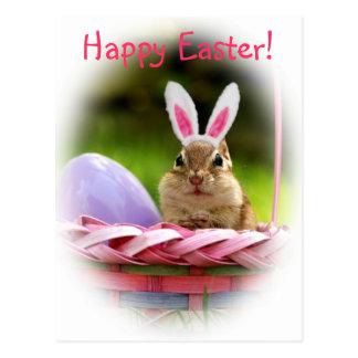 Fröhliche Ostern wenig Chipmunk Postkarte