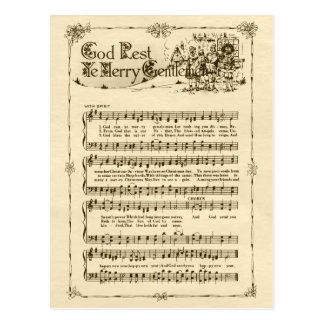 Fröhliche Postkarte Gott-Erholungs-YE Herr-CC0604