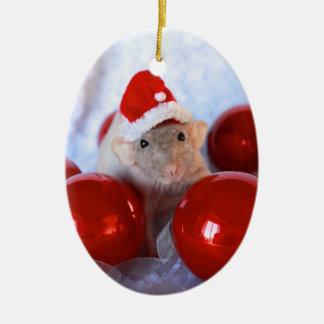 Fröhliche Ratsmas Christmast Verzierung Keramik Ornament