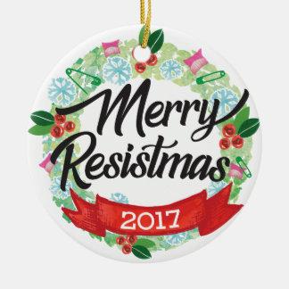 Fröhliche Resistmas Feiertags-Verzierung Keramik Ornament
