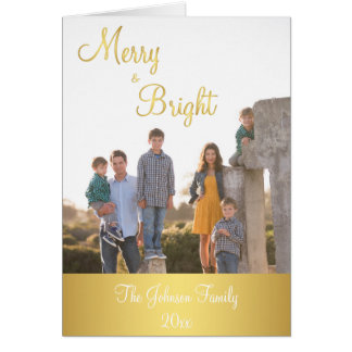 Fröhliche und Gold-Weihnachtsgruß-Karten Grußkarte