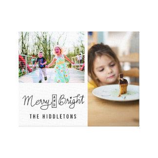 Fröhliche und helle Familien-Fotos des Leinwanddruck
