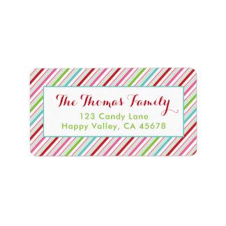 Fröhliche und helle Feiertags-Adressen-Etiketten Adressaufkleber