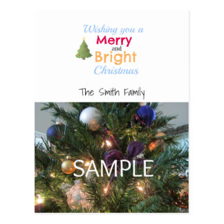 Fröhliche und helle Foto-Karte Postkarten