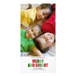 Fröhliche und helle Foto-Weihnachtskarte Fotokartenvorlagen