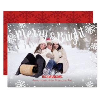 Fröhliche und helle Schneeflocke-weißes Karte