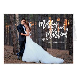Fröhliche und verheiratete Feiertags-Foto-Karte Karte