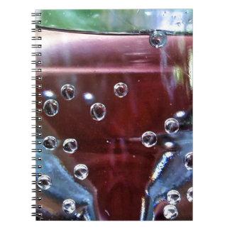 Fröhliche Wassertropfen Spiral Notizblock