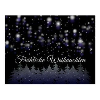 Fröhliche Weihnachten deutsche Postkarte