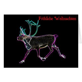 Frohliche Weihnachten - elektrisches Karibu Grußkarte