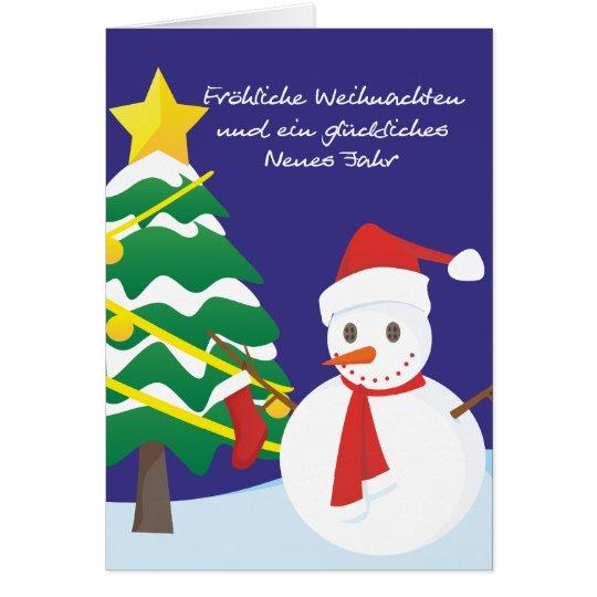 Fröhliche Weihnachten glückliches Neues Jahr Karte
