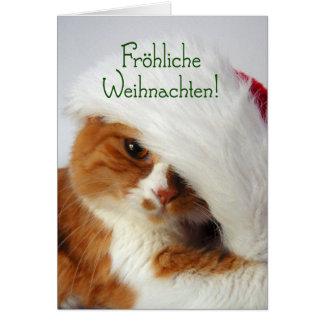Fröhliche Weihnachten - Katze in der Karte