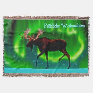Frohliche Weihnachten - Nordlicht-Elch Decke