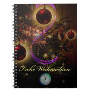 Fröhliche Weihnachten Notizblock