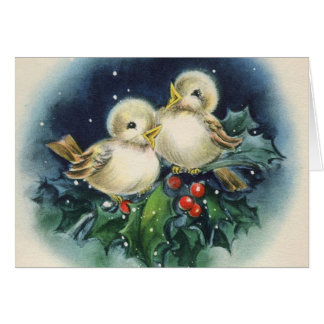 Fröhliche Weihnachten! Vintag Karte