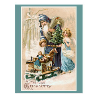 Frohliche Weihnachten Vintager Deutscher Postkarte