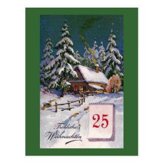 """""""Frohliche Weihnachten"""" Vintager Deutscher Postkarte"""