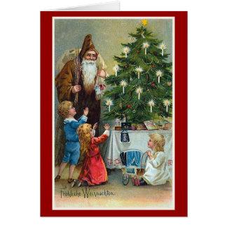 Frohliche Weihnachten Vintages Weihnachten Grußkarte