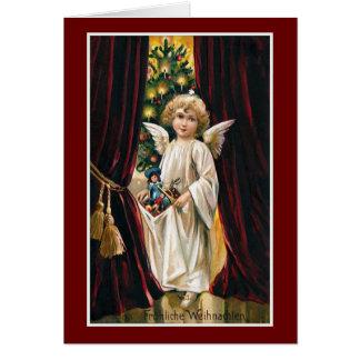"""""""Frohliche Weihnachten"""" Vintages Weihnachten Grußkarte"""