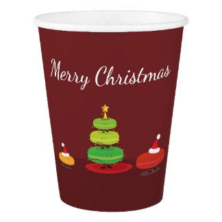 Fröhliche WeihnachtenMacarons | Papierschale Pappbecher