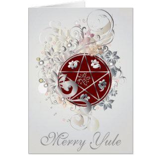 Fröhliche Weihnachtenpentagram-Miniatur-Karte - 3B Karte