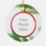 Fröhliche Weihnachtsbaum-Dekoration (Fotorahmen) Ornament