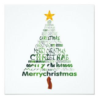 Fröhliche Weihnachtsbaum-Party Einladung