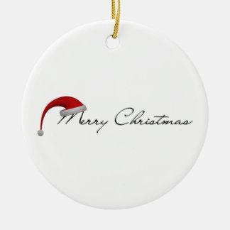 Fröhliche Weihnachtsbaum-Verzierung Rundes Keramik Ornament