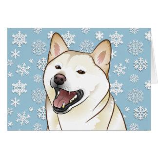Fröhliche Weihnachtscreme Shiba Inu kundengerechte Karte