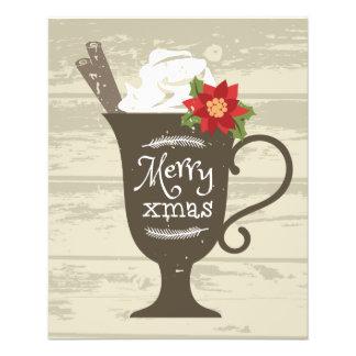 Fröhliche Weihnachtsfeiertags-Eiscreme Flyer