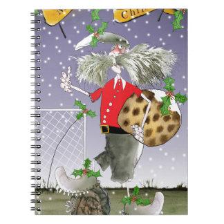 fröhliche WeihnachtsFußballfane Spiral Notizblock