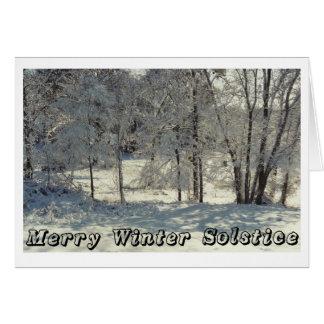 Fröhliche Winter-Sonnenwende Grußkarte