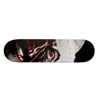 Fröhlicher blutiger Halloween-Zombie Sankt 18,7 Cm Mini Skateboard Deck
