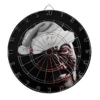 Fröhlicher blutiger Halloween-Zombie Sankt Dartscheibe