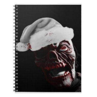 Fröhlicher blutiger Halloween-Zombie Sankt Notizblock