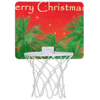 Fröhlicher Chirstmas Entwurf Mini Basketball Netz